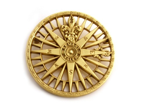 Compass Rose Brooch PEM