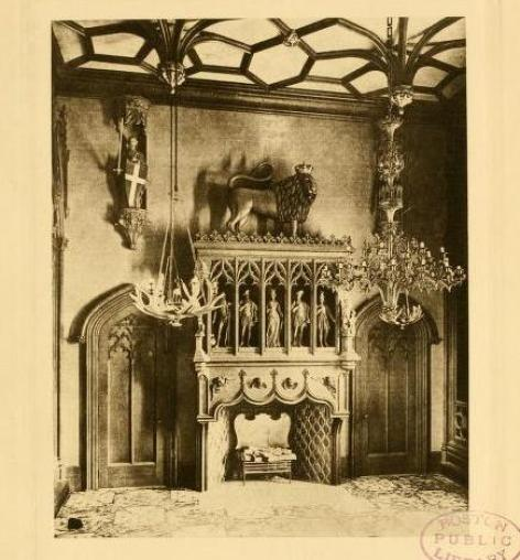 Gothic Banqueting Hall Francis Peabody House 134 Essex 1850-1908