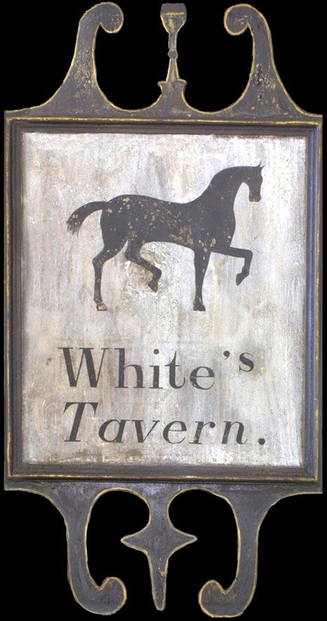 Tavern Sign White