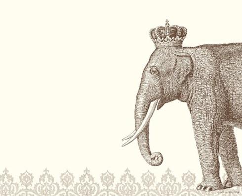 Alexa Pulitzer — Royal Elephant Mousepad Notepad