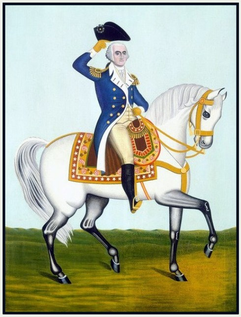 Washington on horseback 19th C