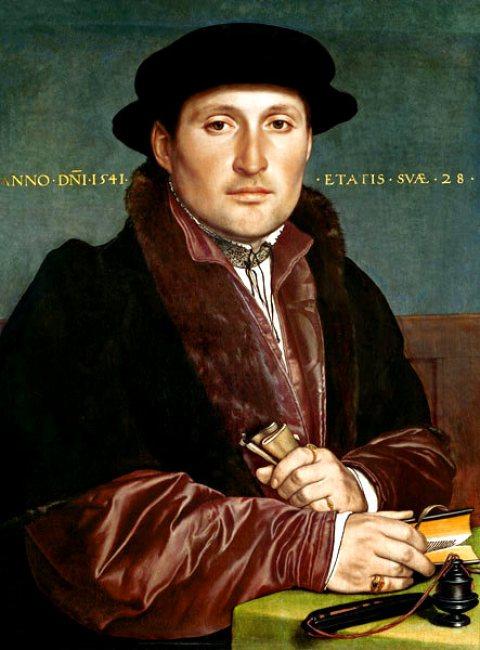 Bildnis-eines-jungen-Kaufmanns Hans Holbein