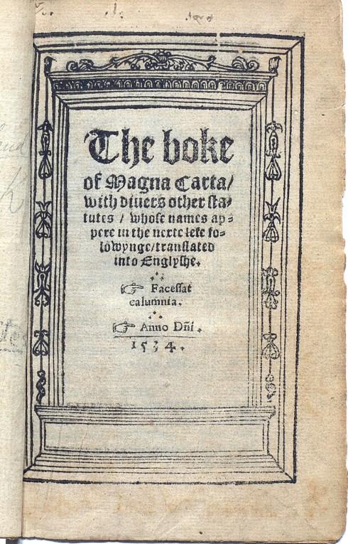 Magna Carta 1534