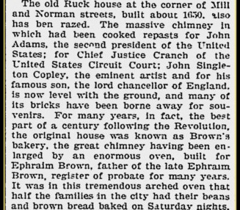 Ruck House Razed 1902 Boston Evening Transcript