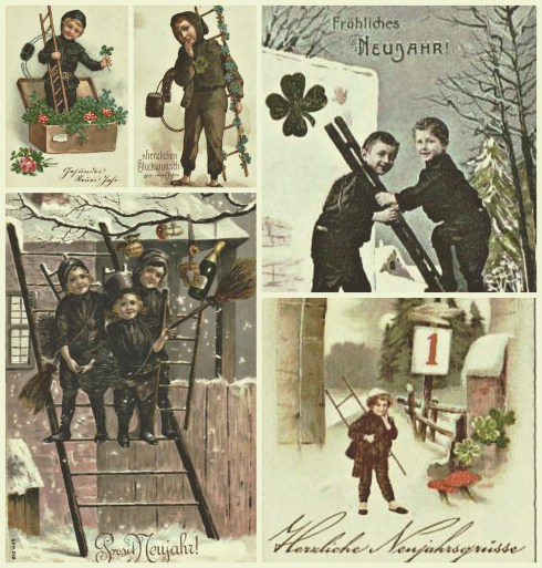 Chimney Sweeps Postcards