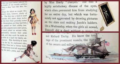 Miss Brooks Embellishes Old Salem Collage