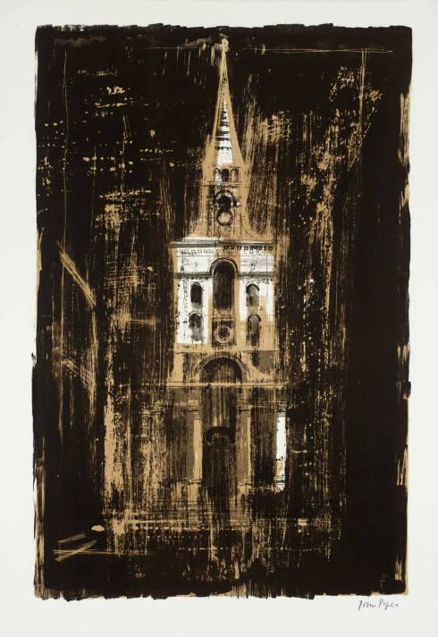 21. Christ Church, Spitalfields, London: by Nicholas Hawksmoor 1964 by John Piper 1903-1992