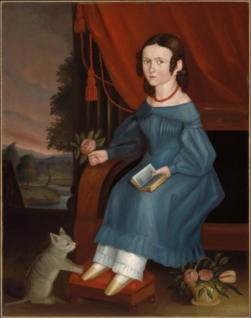 Girl with a Gray Cat