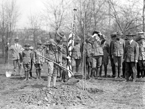 Tree Planting 1924 Boy Scouts LC