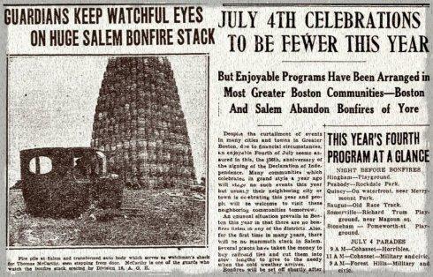 Bonfire Depression collage