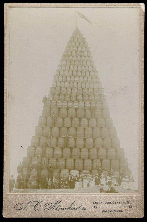 Bonfires Cabinet Card 1907