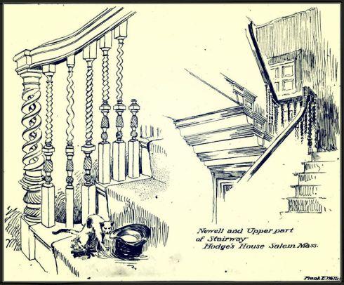 Colonial Stairway Wallis 1887