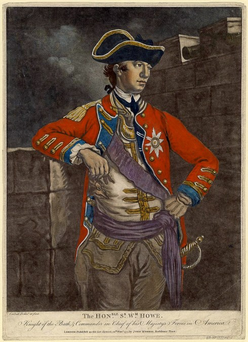 Rebel Officers WilliamHowe1777ColorMezzotint
