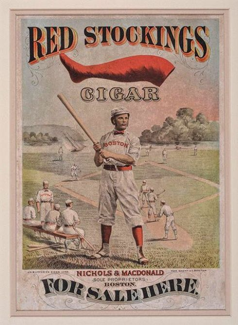 Baseball 1874-red-stockings-cigar-advertising-display-poster-george-wright REA Auctions
