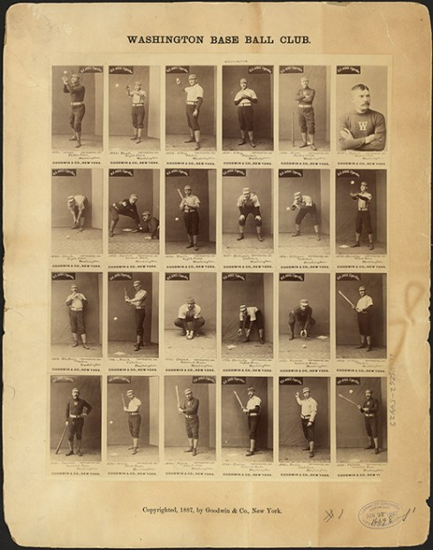 Baseball Uncut sheet of Baseball Cards