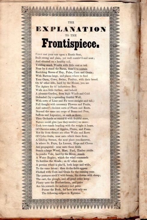 September Worlidge 1681 verse