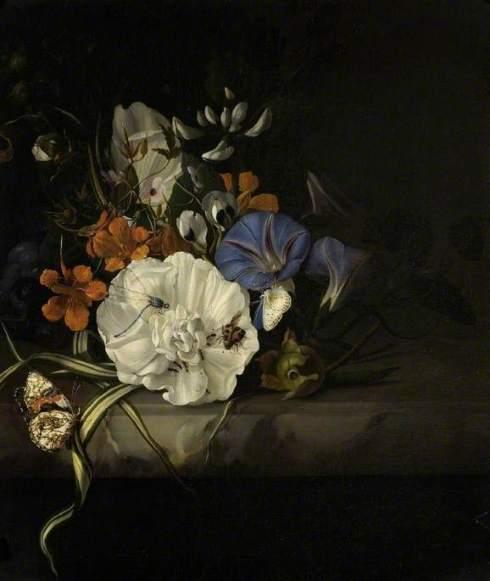 Ruysch, Rachel, 1664-1750; A Spray of Flowers