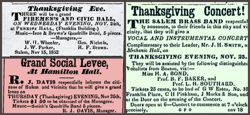 Thanksgiving 1852 collage