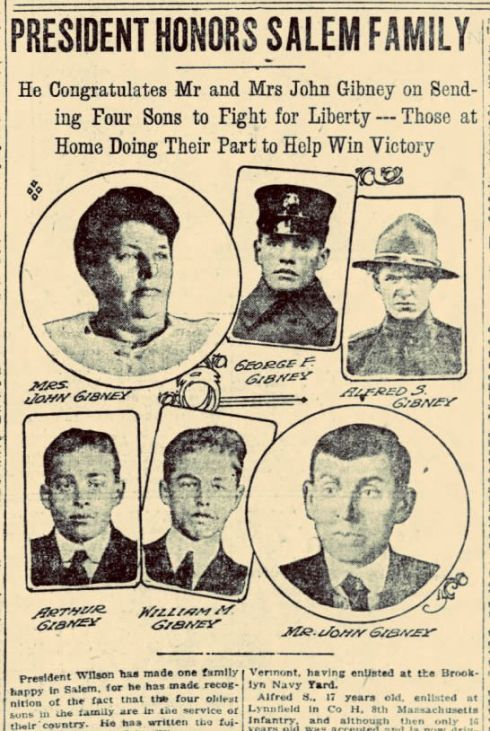 World War I April 1918 Gibneys