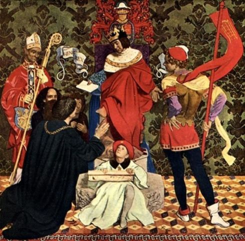 cooper john-cabot-and-his-sons-receive-the-charter-from-henry-vii-to-sail-in-search-of-new-lands