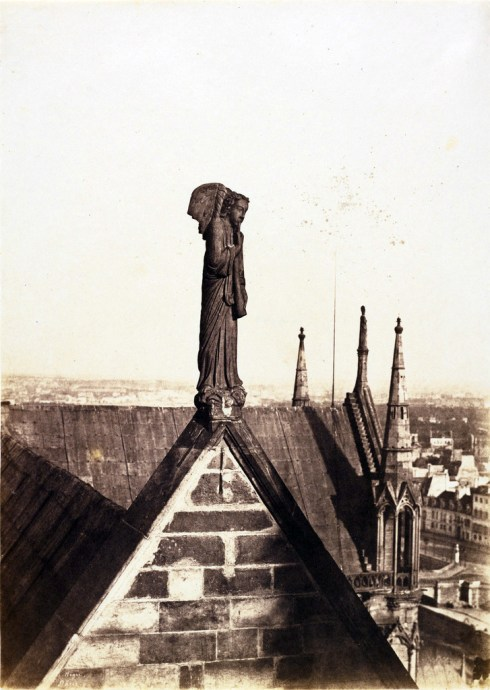[The Angel of the Resurrection on the Roof of Notre-Dame, Paris]