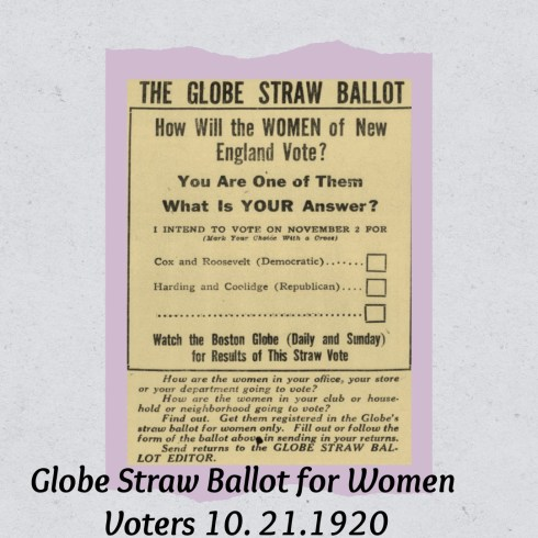 Suffrage Straw Poll