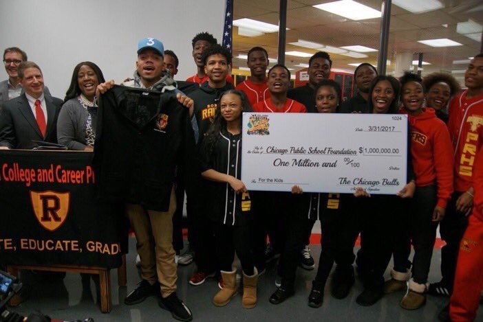 Chicago Bulls Matched $1M Donation to Schools