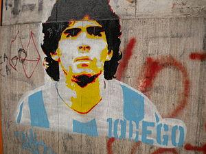 Diego Maradona Graffiti at La Boca, Buenos Aires.