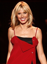 Heidi Klum modeling at The Heart Truth Fashion...