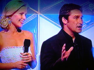 Hosts of Dancing on Ice Jamie Durie and Sami Lukis