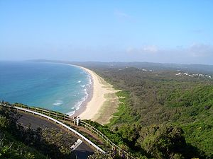 Tallow Beach, Byron Bay, as seen looking south...