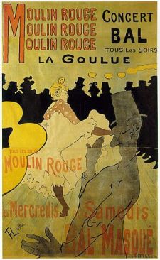 Poster advertising La Goulue at the Moulin Rou...