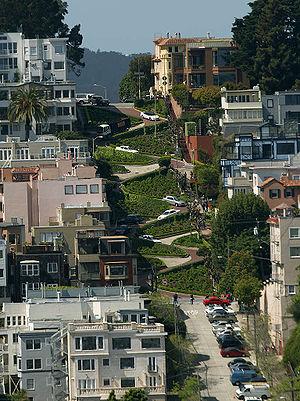 English: Lombard Street in San Francisco seen ...