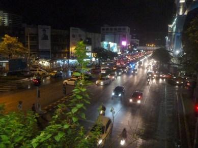 Crowded Bangkok Traffic