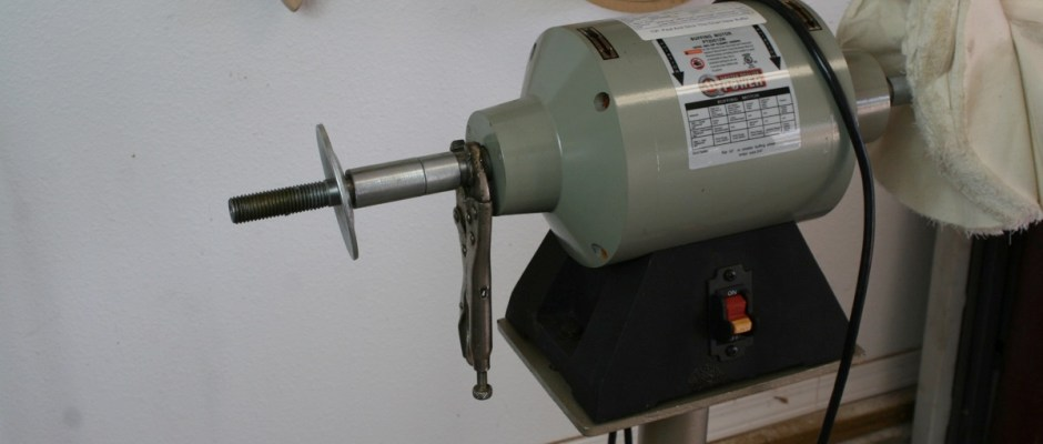 This specialized buffing motor we picked up from the Eastwood Company is a work horse.  It may not sound big, but 3\4 horsepower is a lot when you are talking about an electric buffing motor, this sucker spins to 3450 RPM, it will easily put a part through the wall, so be careful.