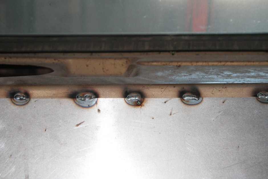 07.We laid down some stitch welds every couple of inches. There is no need to fully weld it, you can even secure it with screws if you wanted to.