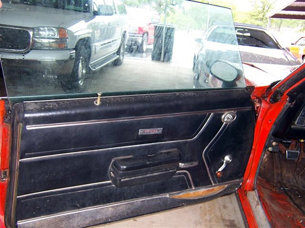 2. The original door panels have seen better days. Not only are they ripped and warped, the cardboard backing is covered in mildew and mold from years of leaky windows. Time for an upgrade.