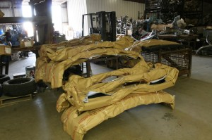 15.The finished bumpers are then placed in the shipping area, ready to be sent back to their eager owners.