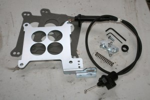 1.The Bowtie Overdrive kit is simple, and takes the guesswork out of setting up the TV cable system in a GM overdrive tranny. Don't forget to order the throttle cable bracket. We did and had to wait.