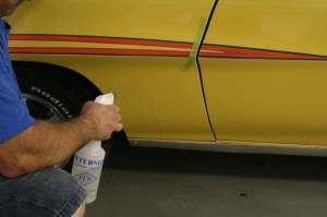 12.The lower fender was sprayed for the Judge decal.
