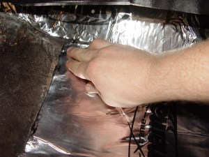 12.The mat has a foil back, so it conforms to the corners and corrugations of the floor pan.