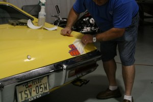 16.The backing was removed and the car is done.