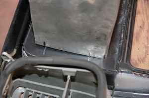 17.The head unit was placed into the bezel and the metal cradle flush with the bottom of the head unit. Then I transferred the alignment marks to the cradle.