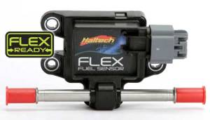 This Flex Fuel sensor tests the ethanol levels of the fuel running through the lines, providing this data to the ECM.