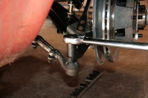 14.Next we torqued the front suspension components to spec. Each tie-rod was set to 40 ft lbs.