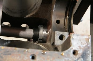 11.Then the bearing gets set into position with the correct clocking.