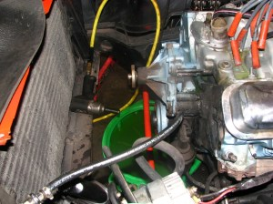 2.The radiator and stock A\C condenser needs to be removed in order to do the cam swap. We could have pulled the motor, but it isn't necessary for this swap.