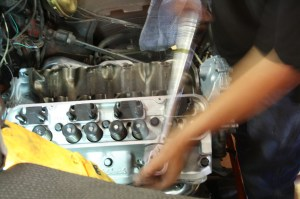 17.Once all the bolts are in, they are torqued down in a sequential fashion. The sequence is engine specific, so check your install manual when torqueing the head bolts. If done wrong, the heads can warp.