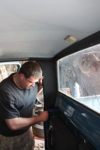 19.The rear pillar trim was installed using the original hardware. The black trim is the perfect addition to the truck.