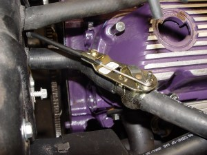 11.The heater valve cable was then run through the firewall and attached to the valve.